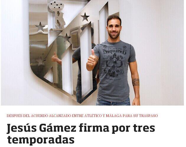马竞官方宣布赛季第八签 马拉加本土边卫加盟