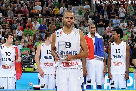 帕克荣膺欧锦赛MVP NBA欧锦赛双满贯第一人