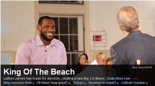 ESPN:詹姆斯归属迈阿密 皇帝只想夺取总冠军