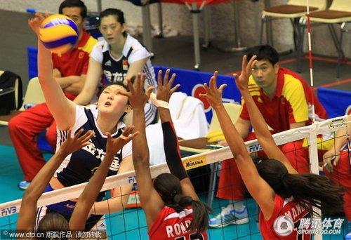 大奖赛澳门站中国女排惜败 3个月2负多米尼加