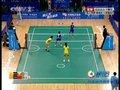 视频:女子藤球双人预赛 孙晓丹跳起单脚拦网