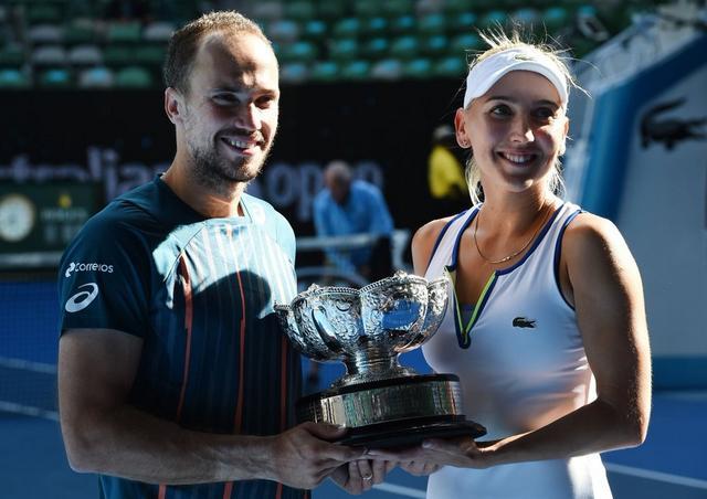 澳网混双5号种子抢十登顶 索阿雷斯成双冠王