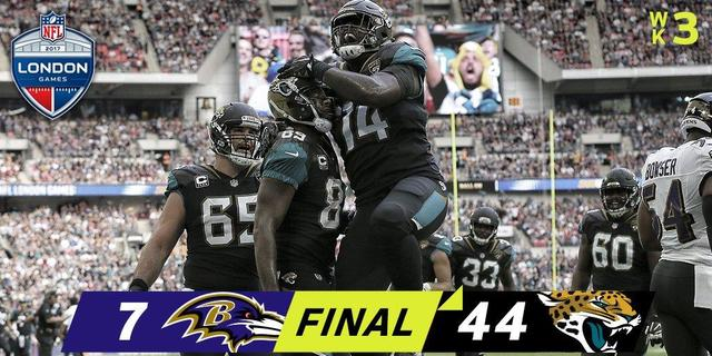 NFL-美洲虎44-7大胜乌鸦 温布利乃球队福地