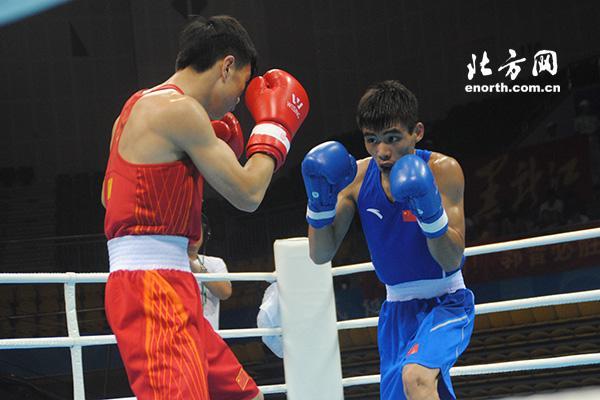 全运会拳击吕斌获49KG金牌 81KG组首回合定胜负