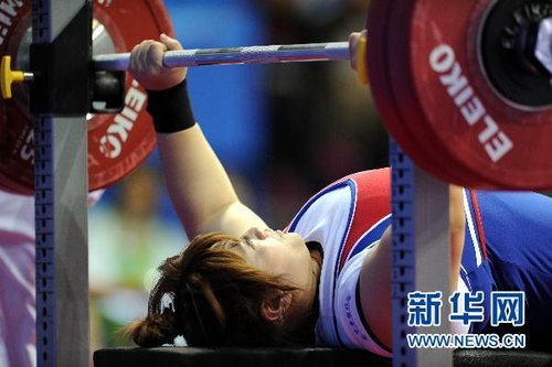 举重:中华台北选手林资惠75公斤级夺冠[组图]
