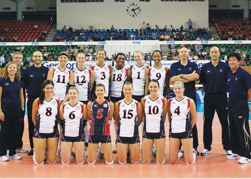 2010世界女排大奖赛美国队完全名单