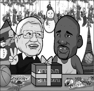 漫画体坛:NBA给球迷送上最好的圣诞礼物