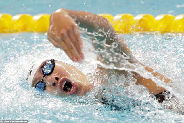 女子200米自由泳决赛 莱德斯基夺冠沈铎第六