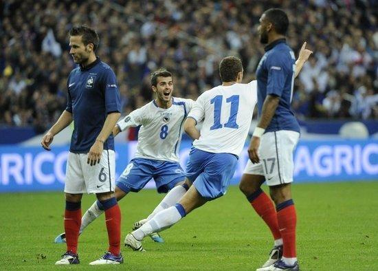 黄金一代打掉法国门牙 欧锦赛怎能少得了他们