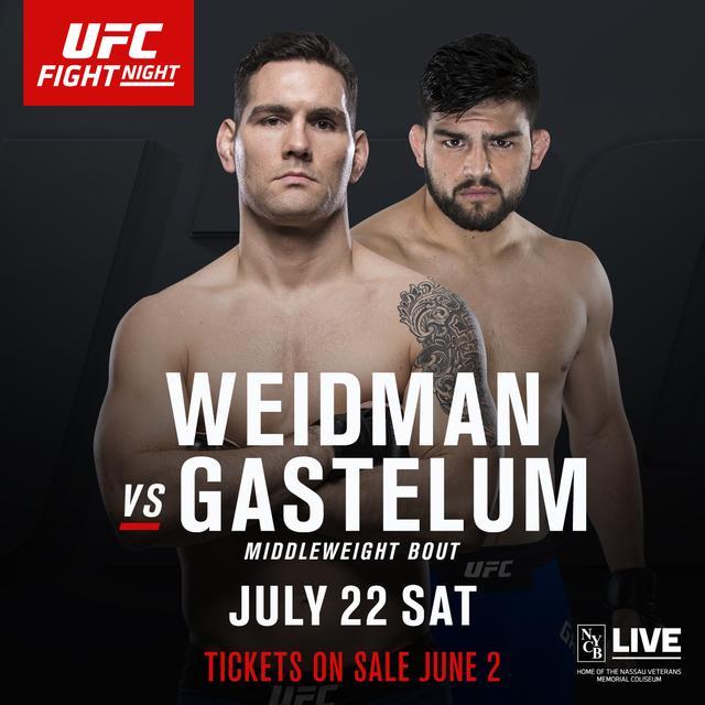 韦德曼VS盖斯特鲁姆中量级对决敲定为UFC头条