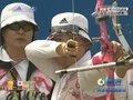 视频:射箭女团赛21箭后 韩国老将出马状态稳