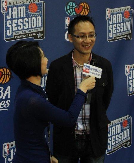 NBA会员采访林书豪 腾讯副总裁:给球迷快乐