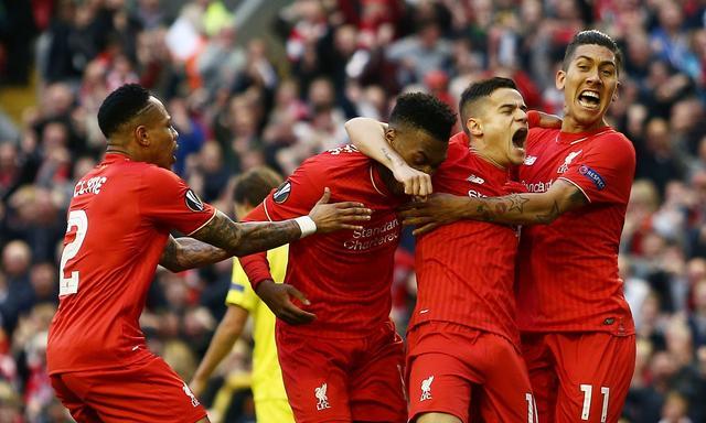 欧联杯-利物浦总分3-1逆转晋级 斯图里奇破门