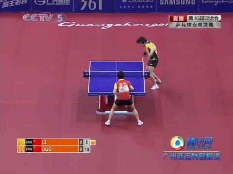 视频集锦:李晓霞苦战七局夺得乒球女单冠军