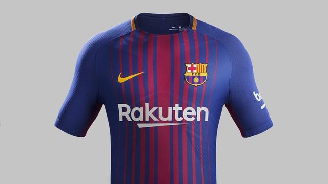 巴萨发布2017-18赛季主场球衣
