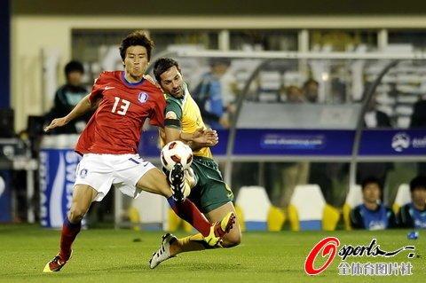 亚洲杯-澳大利亚1-1韩国 新星2场3球独领风骚