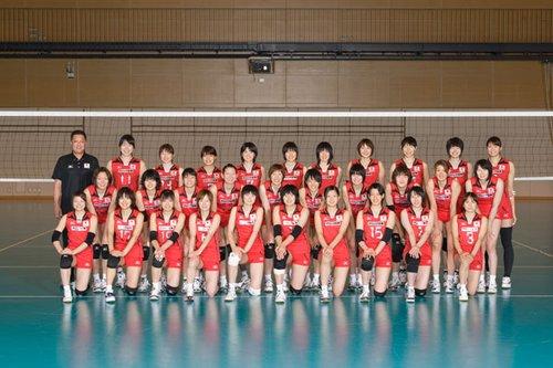2010世界女排大奖赛日本队完全名单