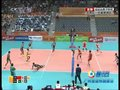 视频:中国男排配合默契 打出短平快得分
