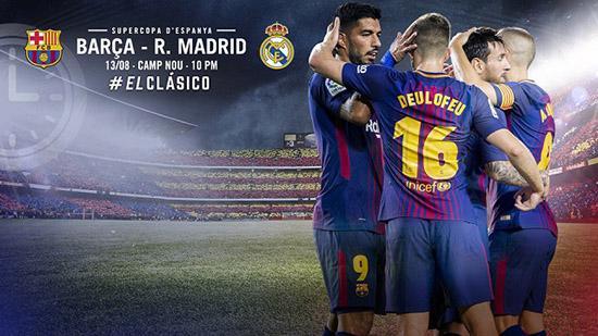 西班牙超级杯首回合巴萨vs皇马全球直播信息