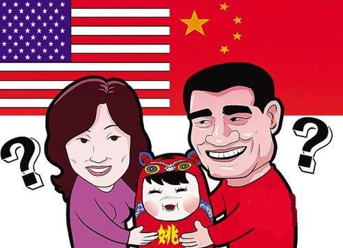 姚明已给女儿起好名字 称国籍是隐私不会公布