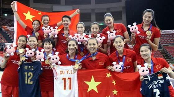 中国夺冠直通里约!中国女排3-1日本