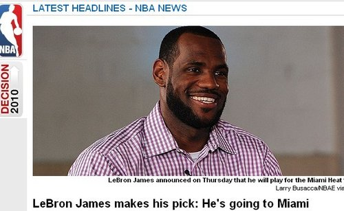 NBA官网:选择热火选择巨星 皇帝只为冠军梦