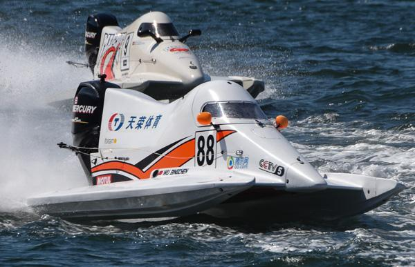 F1摩托艇青年赛葡萄牙站 中国天荣队登领奖台