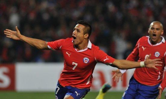美洲杯-神勇桑切斯单骑救主 智利1-1平乌拉圭
