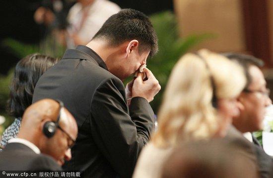 姚明告别赛场失声落泪 14年职业生涯一朝作别