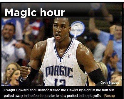 Yahoo:霍华德率魔术逆转 力保不破金身