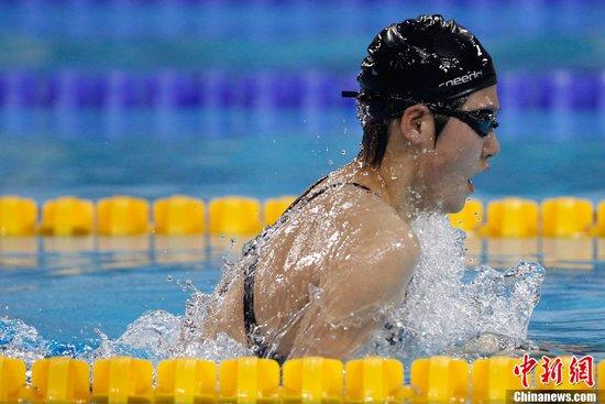图文:叶诗文夺得女子400米个人混合泳金牌