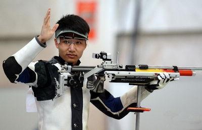 射击世界杯10米气步枪决赛 中国队揽男女金牌