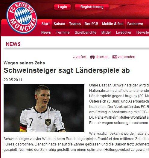 拜仁宣布小猪受伤缺阵欧预赛 带伤出战酿悲剧