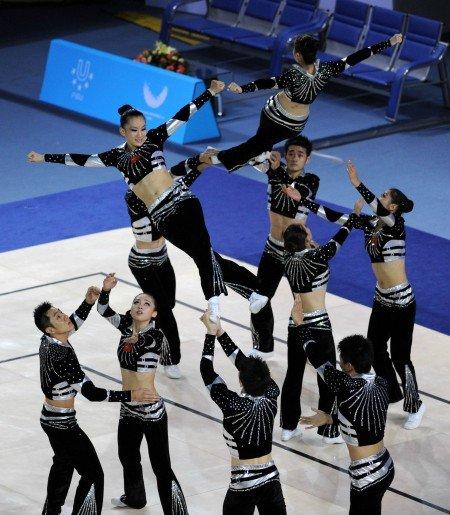 大运会健美操有氧舞蹈决赛 中国组合成功摘金