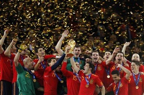 西班牙足协拖欠世界杯夺冠奖金 国脚酝酿罢工
