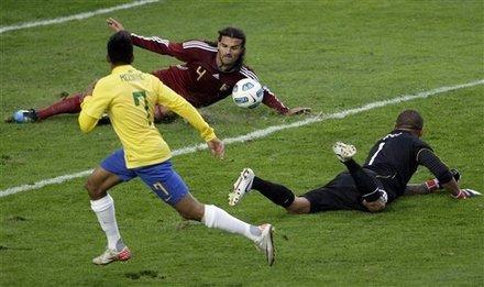 美洲杯-巴西0-0委内瑞拉 南美双雄皆平创纪录