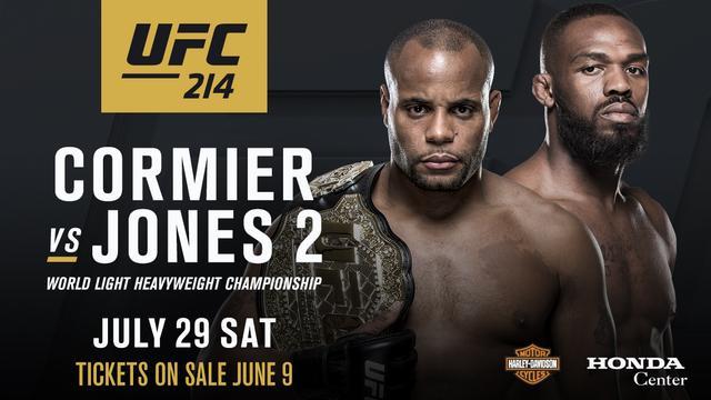 科米尔VS琼斯轻重量级冠军二战敲定 UFC214上演