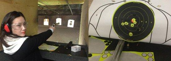 徐静蕾美国秀枪法 左轮打出357环自称神枪手
