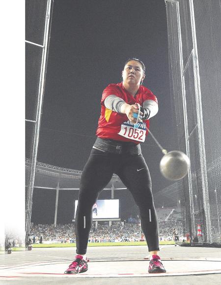 女子链球中国选手张文秀进决赛 称鸟巢是福地