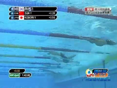 视频:男子200米自由泳 朴泰桓夺冠兼破纪录