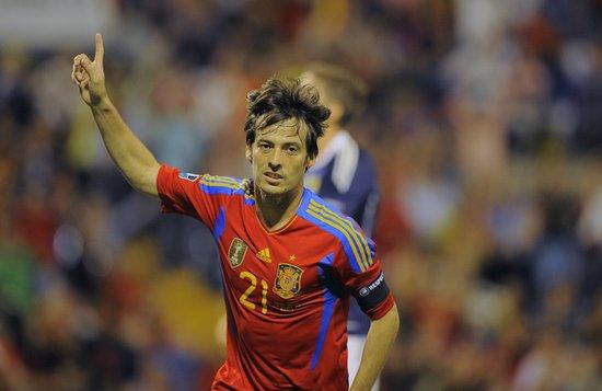 欧预赛-西班牙3-1平世界纪录 席尔瓦两射一传