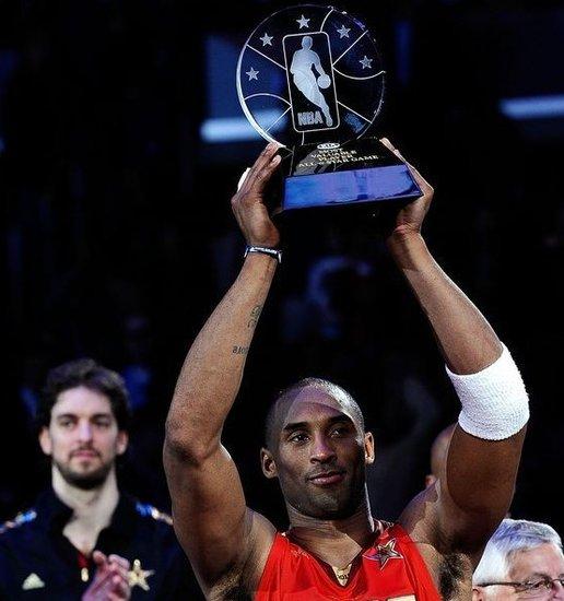 科比第4次获全明星MVP 平佩蒂特并列史上第一