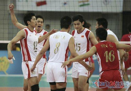 中国男排逆转中华台北 将与伊朗争亚洲杯冠军