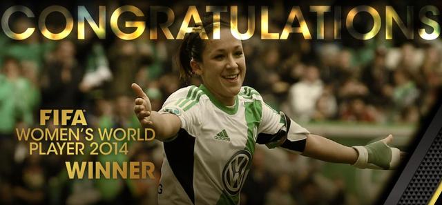 FIFA世界足球小姐:德国女足灵魂凯斯勒当选