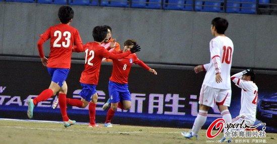 年度收官战U22国足0-1韩国 猛攻下遭对手绝杀