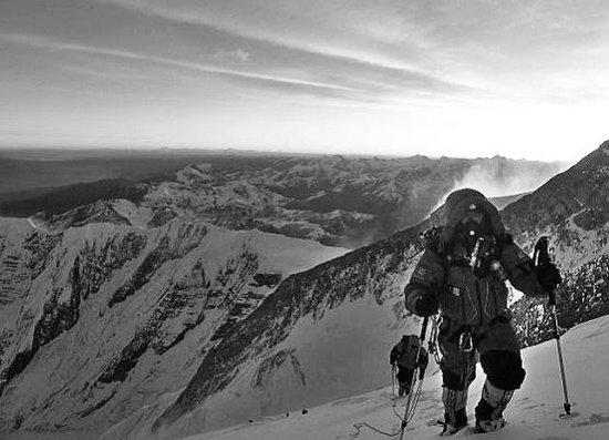 励志登山人物微信头像