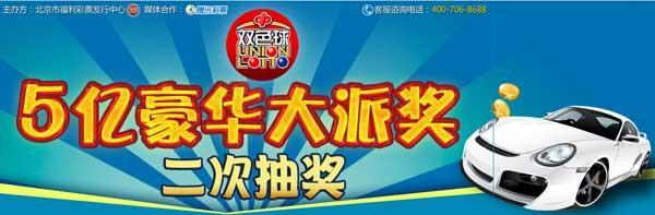 双色球二次抽奖(1):朝阳彩民中豪华汽车(图)
