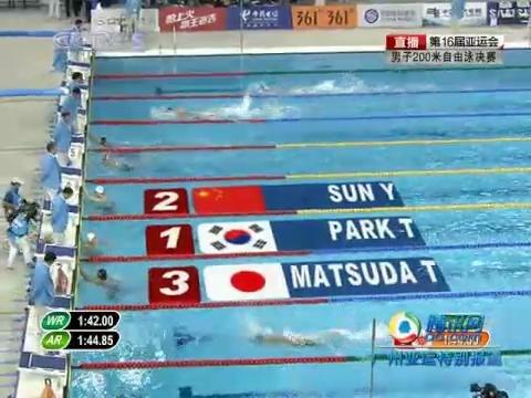 视频:男子200米自由泳 朴泰桓夺冠兼破纪录(全程)