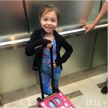 陈露混血女儿青少赛摘金目标 拿世界冠军