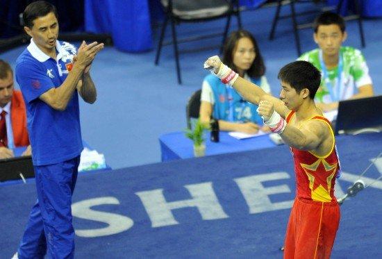 大运会体操比赛完美收官 陈学章单杠逆转问鼎